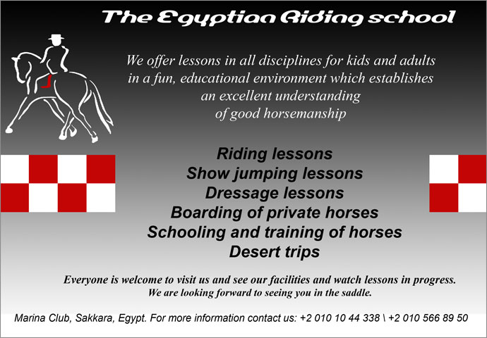Horse Times Egypt: Equestrian Magazine :News :The Egyptian Riding School