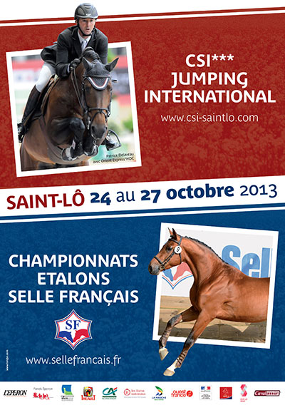 Horse Times Egypt: Equestrian Magazine :News :INTERNATIONAL SHOW JUMPING CSI-3*/1* OF SAINT-LÔ - SELLE FRANÇAIS STALLIONS CHAMPIONSHIPS