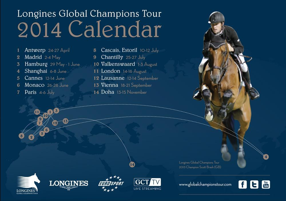 Horse Times Egypt: Equestrian Magazine :News :LONGINES GLOBAL CHAMPIONS TOUR 2014 CALENDER