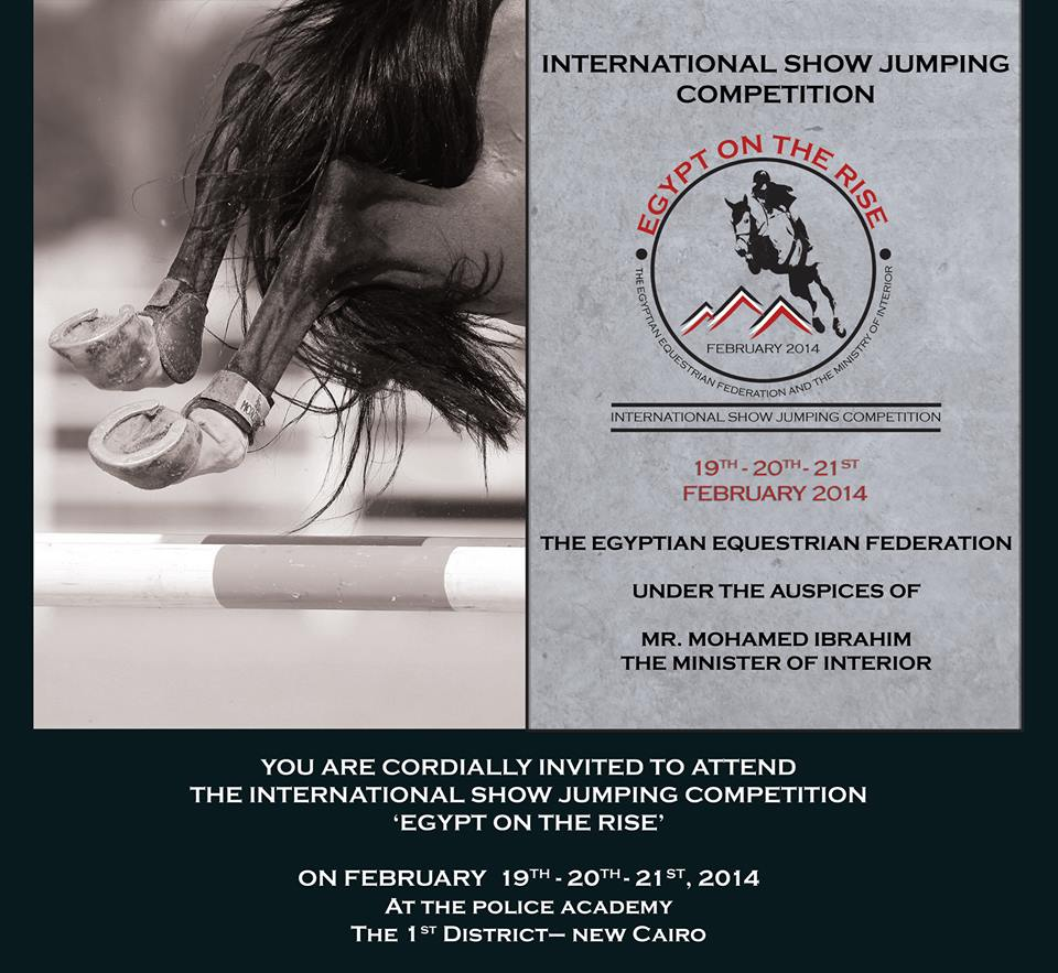 Horse Times Egypt: Equestrian Magazine :News :CSI1*/ CSICh-B-CAIRO - EGYPT ON THE RISE INTERNATIONAL SHOW JUMPING EVENT 2014
