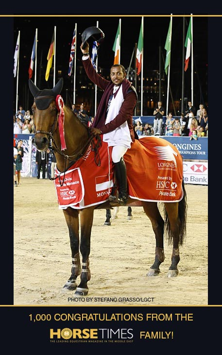 Horse Times Egypt: Equestrian Magazine :News :BASSEM HASSAN MOHAMMED CLAIMS FIRST EVER QATARI LONGINES GLOBAL CHAMPIONS TOUR GRAND PRIX WIN IN MONACO