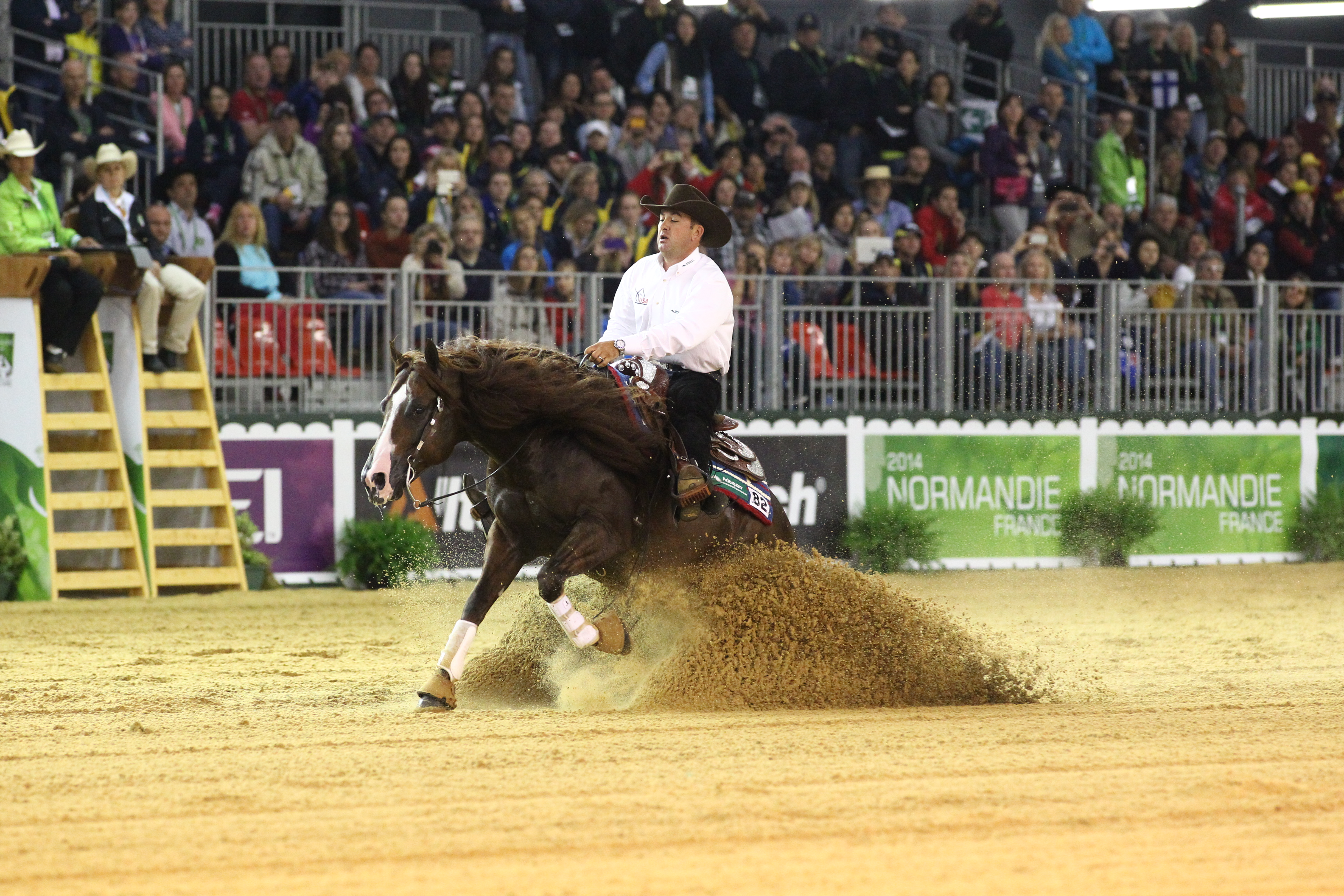 The Usa Claims Team Gold In Reining At The Alltech Fei