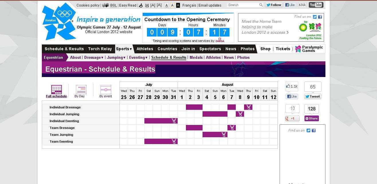 Horse Times Egypt: Equestrian Magazine :News :THE OFFICIAL LONDON 2012 SCHEDULE FOR THE EQUESTRIAN EVENTS