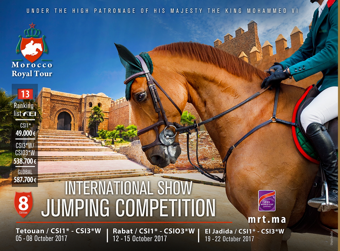 Horse Times Egypt: Equestrian Magazine :News :The Morocco Royal Tour will participate in the Jumping International of Chantilly 2017
